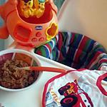 recette Purée bébé courgette riz steak