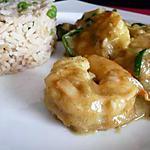 recette Curry vert de crevettes