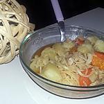 recette Nouilles au légumes et poulet