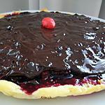 recette tarte aux fruits rouge-ganache chocolat