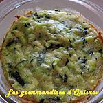 recette Moelleux de courgettes au Bresse bleu
