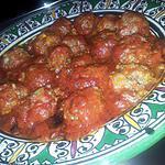 recette Boulettes de boeuf-boulgour en sauce