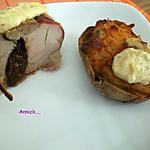 recette filet mignon de porc au roquefort&pruneaux