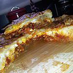 recette Tourte feuilleté à la bolognaise-oeuf