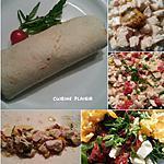 recette Wraps de dinde (poulet)  sauce moutarde, tomates séchées et feta