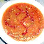 recette SOUPE A LA TOMATE AU CHORIZO
