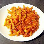 recette Penne Rigate aux crevettes sauce épicée