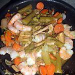 recette wok de scampi au asperges vert