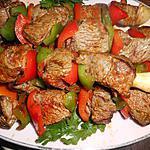 recette Brochettes de boeuf au paprika