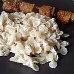 recette Minis pâtes au saint Moret et jambon