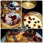 recette Pancakes à la vanille et aux fruits rouges