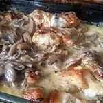 recette Poulet sauce champignons