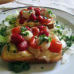 recette brioche  fraises   st jacques