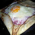 recette *Soirée* crépes salé au jambon oeuf et fromage