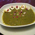recette velouté fanes de radis,,du blog gourmicom