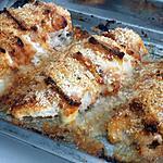 recette Blancs de dinde farci au lard et au fromage roti gratiné a la moutarde a la provençal