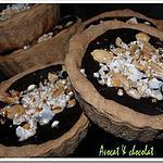 recette **Tartelettes croustillantes et fondantes au chocolat et aux éclats de TOURON aux cacahouètes**