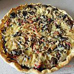 recette Tarte aux oignons,champignons et lardons