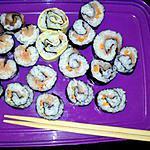 recette Maki au saumon et à l'omelette fait maison