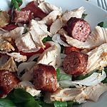 recette Salade au blanc de dinde et saucisses de toulouse