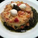 recette Poisson sauce chorizo, poivron-tomate (mozzarella)