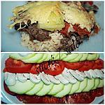 recette gratin de riz au boeuf et légumes