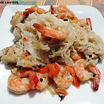 recette Konjac aux crevettes