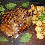 recette Piéce de boeuf grillée pommes de terre aux herbes de provence