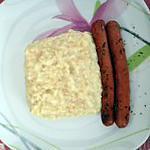recette knacky aux herbes de prôvence et ses céréales crème fraîche , curry