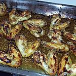 recette Ailes de poulet rôtis au miel citron sésame