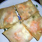 recette Croustillants aux crevettes