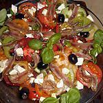 recette Salade grecque aux tomates anciennes