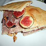 recette PIZZA SANDWICH JAMBON FIGUES