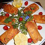 recette Rouleaux au saumon
