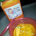 recette Velouté de carottes au cumin-alphabet *Pour Bébé*