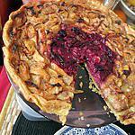 recette tarte   aux  deux  peches  peches