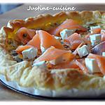 recette Tarte à la féta et au saumon fumé