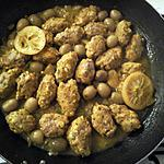 recette poulet aux olives en boulettes