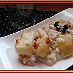 recette Pommes de terre à la carbonara gratinées merci à  La popotte coup de cœur maman pour l'idée