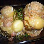 recette Pommes de terre farcies jambon et crottin de chevre