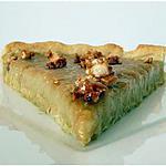 recette Tarte à la crème de rhubarbe, pâte sablée épicée