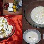 recette Coupe au yaourt citronné.Chantilly.