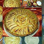recette tarte aux pommes crème amandine.