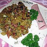 recette Sauté de courgette aux lardons fumés.