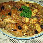 recette cuisses de poulet aux légumes en sauce cuisiné.