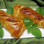 recette Pavés de dinde au jambon cru feuilletée.