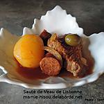 recette Sauté de Veau de Lisbonne