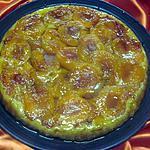 recette Tatin aux abricots et pommes cannelle.
