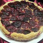 recette Tarte aux prunes rouge et crème.