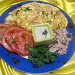 recette Omelette au filets de truite.